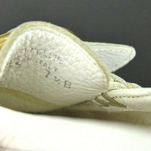 Coach Shoes - Coach Nellie 7.5 White Pebbled Leather Loafers